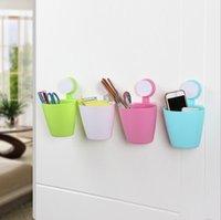 Wholesale Portable Hanging wall mounted storage basket Sponge storage rack basket wash cloth Toilet soap shelf Organizer kitchen gadgets