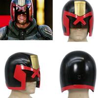 Wholesale XCOSER Judge Dredd Helmet Full Head Dredd COSplay Racing Mask Halloween Prop