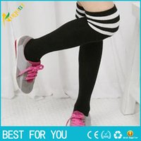 Wholesale Hot Thigh High Sexy Cotton Socks Women s Striped Over Knee Girl Lady Sockings