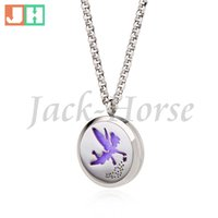 Wholesale Stainless steel Essential Oil Diffuser Necklace Perfume Pendant Necklace Aromatherapy locket pendant necklace