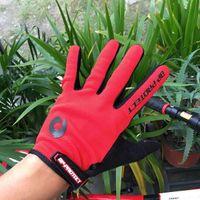 Wholesale 2016 new bike long finger gloves anti slip anti shock all finger cycling gloves mountain bike outdoor sports gloves