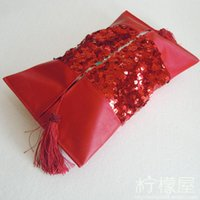 Wholesale Leather round Sequin stitching towel sets European fashion Home Furnishing car luxury decorative fabric paper sets special offer