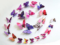 Wholesale New Arrive Beautiful Decorative Artificial Butterfly Magnet for Fridge Decoration Butterfly Magnet for Decoraion