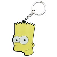 Wholesale Simpsons Bart Figure Feast Your Eyes Double Side Keychain