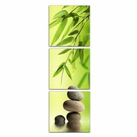 bamboo frame picture - LK396 Panel Bamboo And Stone Oil Painting Wall Art High Giclle Wall Picture Print On Canvas For Home Bar Hub Kitchen Fashion Decoration