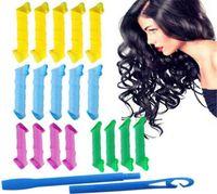 Wholesale 500pcs DIY MAGIC LEVERAG Magic Hair Curler Roller Magic Circle Hair Styling Rollers Curlers Leverag perm