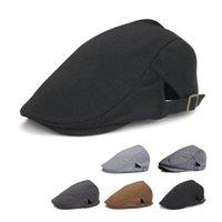 Wholesale 2016 hot newsboy hats new fashion men women solid color beret cap newsboy Caps Spring Forward hat Baseball cap