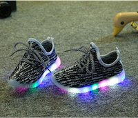 Wholesale Kids LED Shoes New Children Casuals Shoes Baby Toddler Shoes Girls Boys Sports Shoes Kids LED Light Sneaker Baby Luminous
