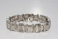 baguette cut diamond - 19 CT MEN S NATURAL BAGUETTE ROUND CUT DIAMOND BRACELET K GOLD