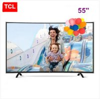Wholesale TCL inch high color gamut curve surface K HDR smart micro channel Internet TV decoder core ultra HD resolution