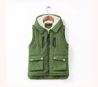Wholesale Original Single Large Size Women S New Winter Wild Hooded Cashmere Asymmetrical Vest Waistcoat Vest By Fly_Dream