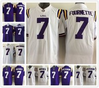 badger football jerseys - LSU Tigers Jersey Footbball Ncaa College Leonard Fournette HONEY BADGER Tyrann Mathieu Patrick Peterson White Purple