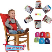 Wholesale Candy colors baby Portable Seat Cover Sack n Seat Kids Safety Seat Cover Baby Upgrate Baby Eat Chair Seat Belt