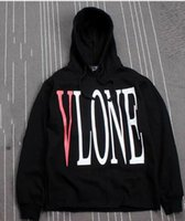Wholesale Drop shipping Streetwear Hoodie Men Hip Hop Warm Fleece Pullover VLONE Hoodies Sweatshirts