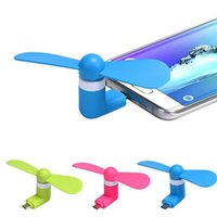 Wholesale Mini USB Fan For Samsung iPhone Cell Phone MINI Cooler Rotary Handy Fan Great For Summer