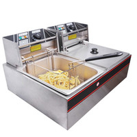 Wholesale Commercial Dual Tank L Electric Counter Deep fryer Fast Food Restaurant W Frying Machine