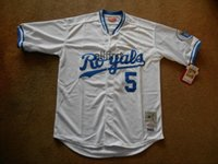 Wholesale 2016 On Sale Mens Kansas City Royals Baseball Jersey George Brett White Jerseys Cool Base Stitched Jersey