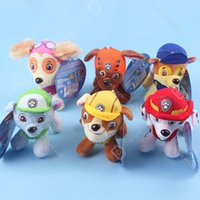 Wholesale Paw Of Patrol Plush Toys cm Skye Soft Toys Marshall Chase Figure Zuma Rocky Rubble Kids Toys Gifts Stuffed Dog Cute Animals Toys For Kids