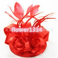 Wholesale 2016 Grade Manual Bride Yarn Feather Headdress Flower Headdress Headdress Banquet Manners