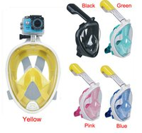 Wholesale Brand Underwater Diving Mask Snorkel Set Swimming Training Scuba mergulho full face snorkeling mask Anti Fog For Gopro Camera