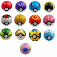 Wholesale 13 Colour Cute Poke Ball Pokeball Mini Model Classic Anime Pikachu Super Master Poke Ball Action Figures Toys cm