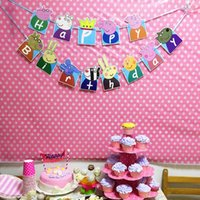 banner happy birthday - Cute Pigs Happy Birthday Banner Bunting Themed Party Flags Party Bunting Flags for Kids Birthday Baby Shower Party