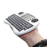 Wholesale Rii i8 Mini Wireless Keyboard Russian English Air Mouse Multi Media Remote Control Touchpad Gaming Keyboard for Android TV BOX Notebook