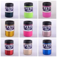 Wholesale Top Quality oz ten colors Colster can Yeti Coolers Rambler Colster YETI Cars Beer Mug Insulated Koozie oz Cups Drinkware