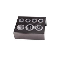 Wholesale akeup Tools Accessories Eyebrow Stencils Holes Pigment Container Stand Tattoo Accessories Supplies Stainless Steel tattoo permanent mak