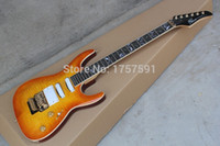 Wholesale factory HOT Top quality Pensa custom orange electric guitar golden hardware SSH pickups