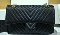 ball chain shop - Fashion Brand Skin Cow Skin Ball Pattern V Shape Women Shopping Bag Handbag Shoulder Bags