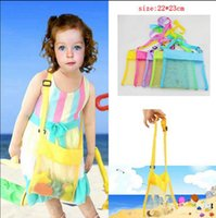 baby treasures - Sand Bags Beach Bag Mesh Tote Organizer Toy Treasures Bags for Sea Shell Storage Bags mesh Beach Bag Baby Collection Nappy KKA630