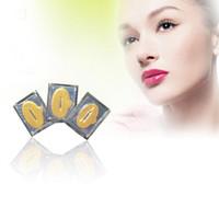 Wholesale Moisture Lip Masks Crystal Collagen Nano Gold Lip Mask Downplay Corneous Moisturizing Lip Mask Anti Aging Anti Wrinkle Lips Care Pads Lip