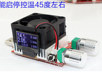 Wholesale 35w portable LCD disply screen Load resistor USB Interface discharge battery tester Voltage current capacity intelligence adjustable fan vo