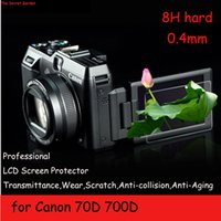 Wholesale For Canon EOS D D DLSR Camera Thin mm H Premium Tempered Glass LCD Screen Protector Anti scratch Protective Glass