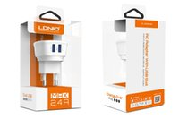 Cheap Wholesale-LDNIO Wall Charger DL-AC63 2.4A Dual USB Output Travel Charger EU  UK  US Plug Types
