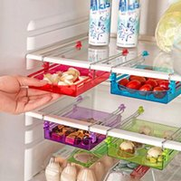 bamboo drawer pulls - Kitchen PC Small Fridge Storage Rack With Layer Partition Refrigerator Plastic Storage Holder Pull out Drawer Organizer