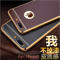 Wholesale Men apple splus litchi dermatoglyph tpu plating following iphone7 turnkey relief from the case