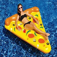 ride on toys - Giant Inflatable Pizza Float Toy Summer Entertainment Water Sport m P PVC Ride On Pool Floating Gift Pizza Air Mattress