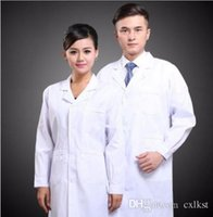 Wholesale New Mens Womens White Lab Coat Scrub Medical Doctor s Jacket Brand New Good Quality Free Shippin