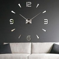 Wholesale Fashion Lovely D DIY Large Wall Clock Mirror Surface Sticker Home Office Decor