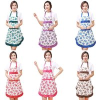 aprons offers - Promotion Special Offer Apron Kit Bib Apron printing Long Sleeve Cuff Waterproof Aprons Gowns Suits For Men And Women