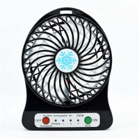 batteries lithium air - Black Portable Small Handheld Fan USB Rechargeable Lithium Battery Charging Desktop Mini Fan portable Small Air Cooling Fan Strong Winds