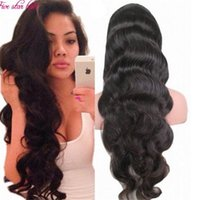 Wholesale 180 Full Density Glueless Unprocessed Brazilian Human Hair Full Lace Wigs Body Wave A Human Hair Lace Front Wigs