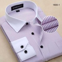 Wholesale Sell like hot cakes in autumn of the new stripe men long sleeved shirt leisure business dress shirt