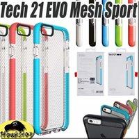 21 - Tech Iphone Impact EVO mesh Sport Case Check For Samsung Galaxy S7 edge S6 Iphone Plus Plus Tech21 TPU With RetailBox