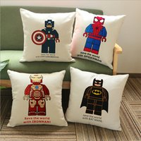 adult movie cover - 6 Styles High Quality Super Hero Cotton Linen Car Cushion Cover Adult Soft Comfortable Pillow Cover Movie Same Paragraph Cushion