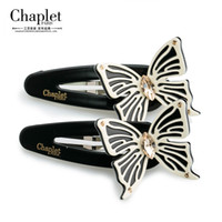 Women's bang snaps - Chaplet New Elegant Butterfly Hair Accessories Jewelry Rhinestone Hairpins High Quality Ladies Snap Clips BB Bangs Clips