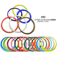 Wholesale 2016 Tritina D Filament Colors meters For D Printing Pen ABS PLA Option Creative Pen Printing Machine gift for children