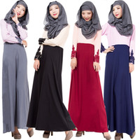 arab clothes - 007 Muslim new Arab robes color dress lace cuffs Hui clothing agent on behalf of the spot plus size m xl